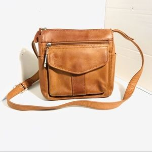 Fossil Brown Leather Crossbody Strap Purse Bag